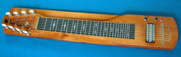 S8 Console Lap Steel Guitar Amber Tint Mahogany 24.5 scale