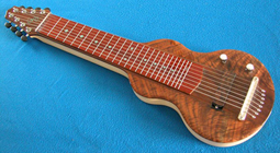 S8 Lap Steel Guitar Figured Walnut 12 Star #2