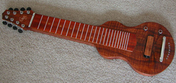S8 Lap Lap Steel Guitar Book Matched KOA with Sepelle and Copper Inlay