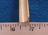 milled brass end
