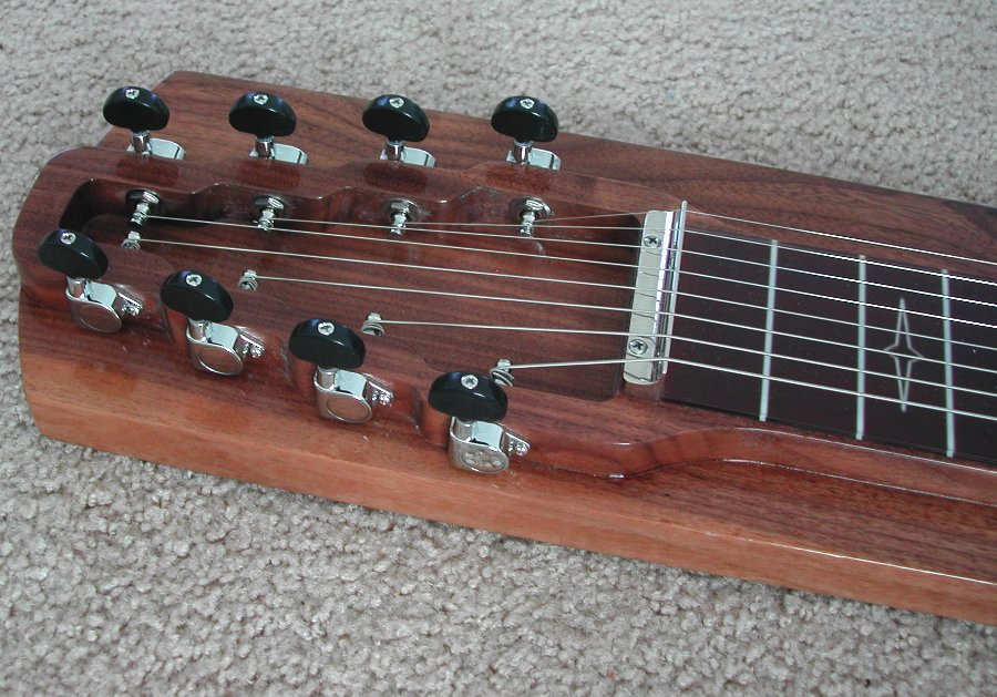 walnut s8 lap steel guitar