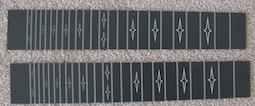 deluxe fretboard white with black lines