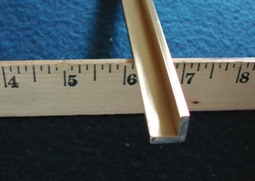 brass for nut and bridge 1/2 x 1/2 x 1/8